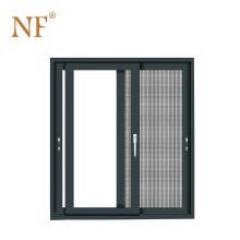 Marine aluminum entry sliding door with blind