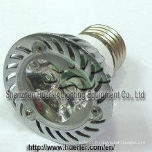 12v 24v 3W haute puissance MR16 led spot lampe