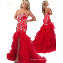 Red Mermaid Sweetheart Pageant Dress Party Dress Evening dress with Crystal Rhinestones RO11-15