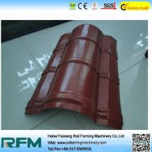 fx aluminum ridge cap tiles cold roll forming machine