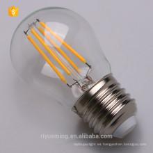 Lámpara de filamento de emisión cero G45 G45 blanco suave 3000K