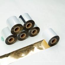 Ruban pour imprimante à transfert thermique or brillant compatible avec transfert de chaleur vente chaude