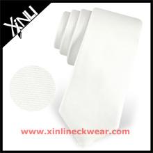 Laço de sublimação perfeito dos homens de seda do livro para colorir do nó do pescoço do cetim branco preto