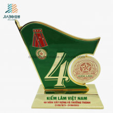 Troféu da medalha da promoção do esmalte verde da liga da amostra grátis para a lembrança