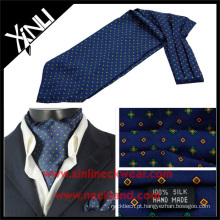 Seda de alta qualidade impresso Mens gravata Camo Ascot