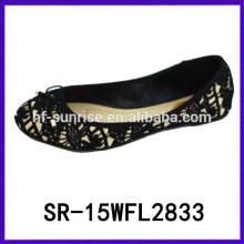 Zapatos planos de la cena de las señoras de los zapatos planos 2015 zapatos de la comodidad de la señora zapatos de España