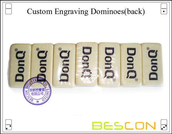 Custom Engraving Dominoes (back)