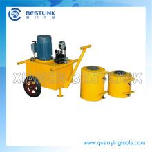 Empuje hidráulico Jack máquina para extracción de piedra