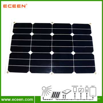 Panneau solaire semi-flexible Sunpower vendu à chaud 30W pour RV nautique européen