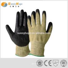 Luvas de mão resistentes ao corte com nitrogênio e espuma de ensaio