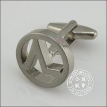 Hollow rodada Round Cufflinks, Metal Cufflink (GZHY-XK-084)