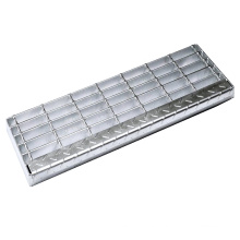 Outdoor Non-slip Galvanized Steel Stair Tread Ladder with Striped Plate at Factory Price