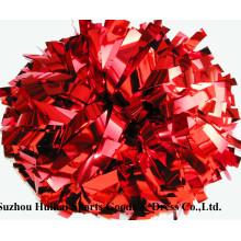 Metallic Red POM Poms
