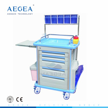 AG-AT001A1 Anesthesia box storage plastic material hospital emergency cart carretilla