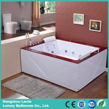 Европейская популярная акриловая ванна с джакузи (TLP-666-акриловая юбка)