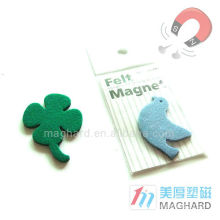 Creative Cheap Personalized Novelty Item Felt Materiel Magnet Clip Memo holder