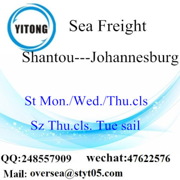 Shantou Port LCL Consolidation to Johannesburg