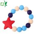 Mode Runde Perlen Silikon Armband Baby Kinderkrankheiten Armband