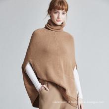 2017 estilo novo cashmere senhoras sweater loose batwing padrão poncho de inverno