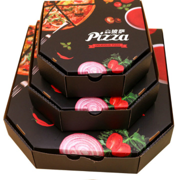 Caja de pizza de papel corrugado rectangular personalizado reciclable