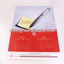 High quality custom printed new design wall calendar