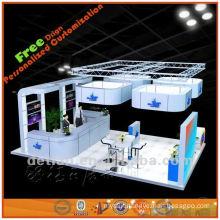 portable and light exhibition booth design for trade fair show