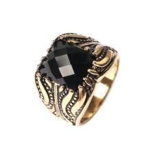 Saudi Gold Jewelry Ring 24k Diamond Single Stone Ring Designs