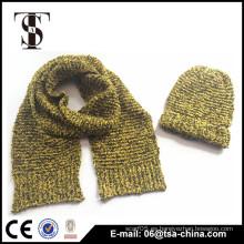 Venta al por mayor china de la bufanda del knit del acrílico de la venta caliente con el sombrero