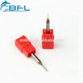 BFL Solid Carbide Micro Diámetro Miniatura End Mill 0.1 mm Altin recubierto