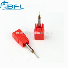 BFL-Vollhartmetall-Mikrodurchmesser-Miniatur-Schaftfräser 0,1 mm Altin beschichtet