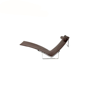 PK24 Chaise Lounge Replica Leather Cushions Chair