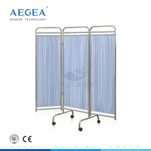AG-SC002 Super cheap foldable patient examination room hospital bed screen on wheels