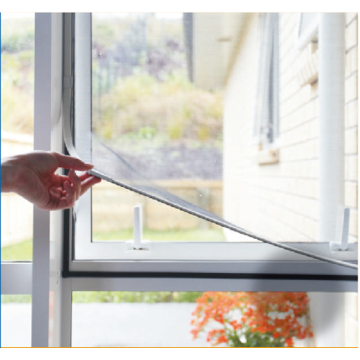 PVC frame magnetic mosquito net fly screen window