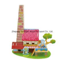 Brinquedos de madeira para brinquedos DIY casas-restaurante
