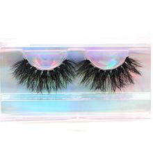 3D670H Hitomi Mink Lashes Custom Packaging Long Eyelash soft natural mink eyelashes Fluffy 25mm Magnetic Mink Eyelashes