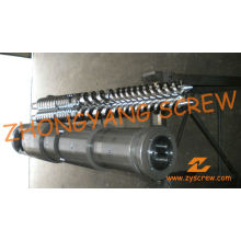 Barril y tornillo gemelo cónico Zyt421 para lámina de PVC