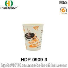 Único copo de papel descartável do café quente da parede com impressão (HDP-0909-3)