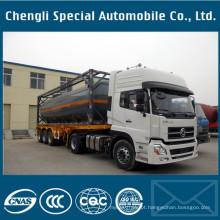 Semi reboque do recipiente do tanque do ISO de Clw 20/30/40 / 45FT ISO
