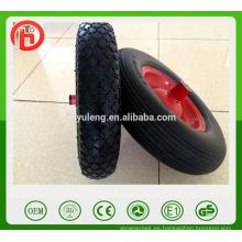 rueda popular caliente de la pu, rueda de la PU del borde del metal para el modelo de la carretilla cinco puede elegir