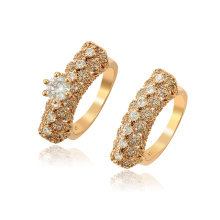 15848 xuping new arrival fashion royal style 18k gold color zircon women's  ring set