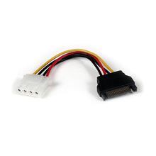 Macho do IDE PC 4pin ao cabo de alimentação fêmea de SATA 15pin