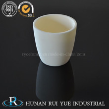 Crisol de alta pureza cilíndrico Al2O3 corindón cerámica alúmina