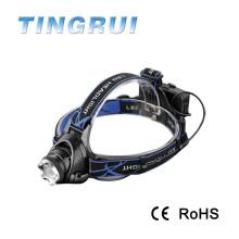 T6 recargable de alta potencia recargable llevó 1800 lúmenes linterna