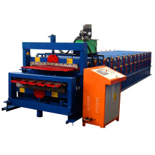 Double layer corrugated color steel roll forming machine / double sheet roof roll forming amchine