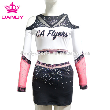Crop Top Backless Cheerleader Costume Girls
