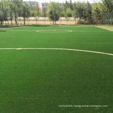 Non infill football courts use artificial grass