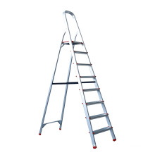 7 steps Aluminum Home Used Folding Ladder with handle