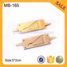 MB165 выгравируйте фарфоровые тарелки, логотип металлического бренда, пользовательские металлические логотипы логотипов