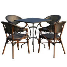 all weather outdoor dining sets bamboo like fabric chair and table