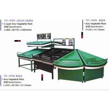 Fruchtgemüse-Präsentationsständer, Supermarkt-Ausrüstung (YD-V001)